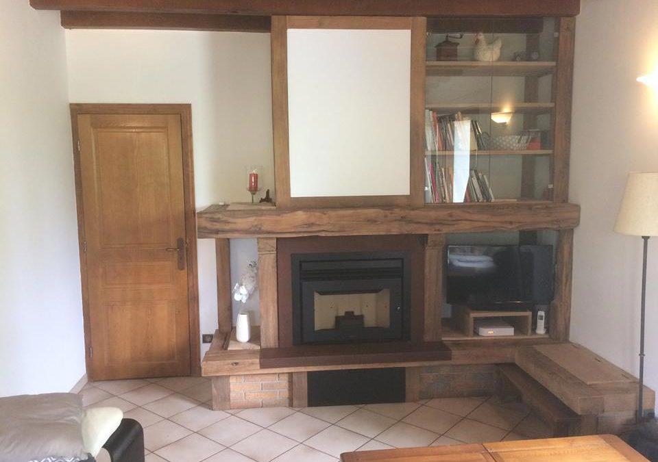 Remplacement d'un insert à bois par un insert à granulés de bois – Lanuejouls
